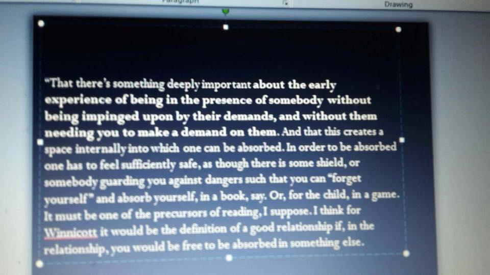 Foto van een sheet met een citaat, bij het blog over de vitaliteit van de coach.